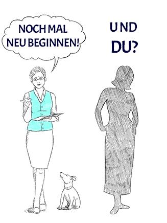 Frau stellt sich die Frage nach einem Neubeginn